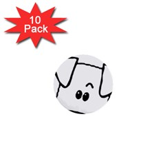 Peeping Coton 1  Mini Buttons (10 Pack)