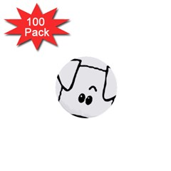 Peeping Coton 1  Mini Buttons (100 Pack)