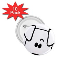 Peeping Coton 1 75  Buttons (10 Pack)