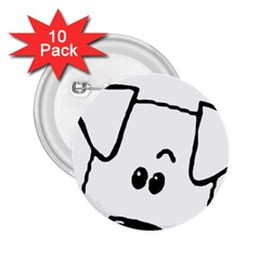 Peeping Coton 2 25  Buttons (10 Pack)