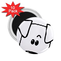 Peeping Coton 2 25  Magnets (10 Pack)