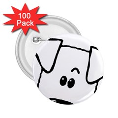 Peeping Coton 2 25  Buttons (100 Pack)