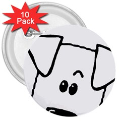 Peeping Coton 3  Buttons (10 Pack)