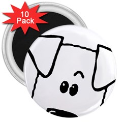 Peeping Coton 3  Magnets (10 Pack)