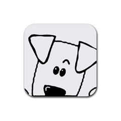 Peeping Coton Rubber Square Coaster (4 Pack)