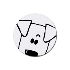 Peeping Coton Rubber Round Coaster (4 Pack)