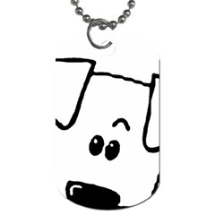 Peeping Coton Dog Tag (two Sides)
