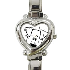 Peeping Coton Heart Italian Charm Watch