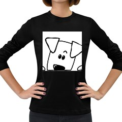Peeping Coton Women s Long Sleeve Dark T Shirts