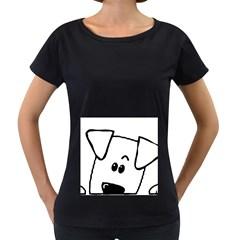 Peeping Coton Women s Loose Fit T Shirt (black)