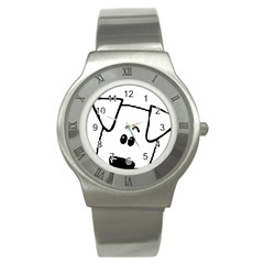 Peeping Coton Stainless Steel Watch