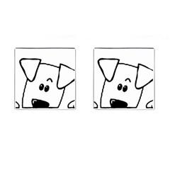 Peeping Coton Cufflinks (square)