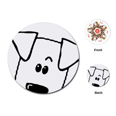 Peeping Coton Playing Cards (round)