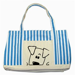 Peeping Coton Striped Blue Tote Bag