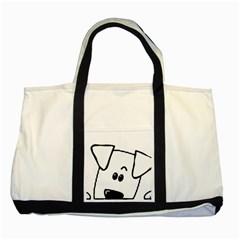 Peeping Coton Two Tone Tote Bag