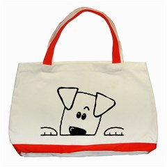 Peeping Coton Classic Tote Bag (red)