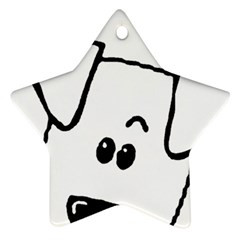 Peeping Coton Star Ornament (two Sides)