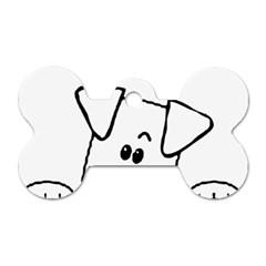 Peeping Coton Dog Tag Bone (one Side)