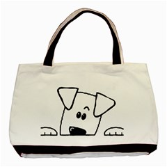 Peeping Coton Basic Tote Bag (two Sides)