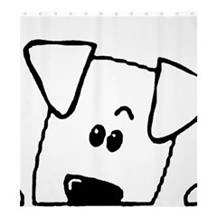 Peeping Coton Shower Curtain 66  X 72  (large)