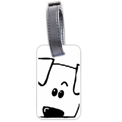 Peeping Coton Luggage Tags (one Side)