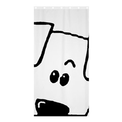 Peeping Coton Shower Curtain 36  X 72  (stall)