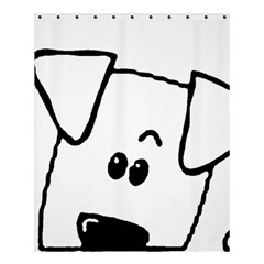 Peeping Coton Shower Curtain 60  X 72  (medium)