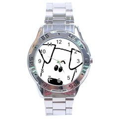 Peeping Coton Stainless Steel Analogue Watch