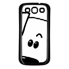 Peeping Coton Samsung Galaxy S3 Back Case (black)