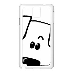 Peeping Coton Samsung Galaxy Note 3 N9005 Case (white)