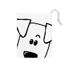Peeping Coton Drawstring Pouches (medium)
