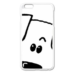 Peeping Coton Apple Iphone 6 Plus/6s Plus Enamel White Case