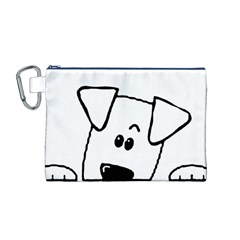 Peeping Coton Canvas Cosmetic Bag (m)