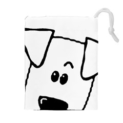 Peeping Coton Drawstring Pouches (extra Large)