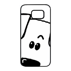 Peeping Coton Samsung Galaxy S7 Edge Black Seamless Case