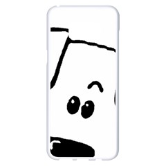 Peeping Coton Samsung Galaxy S8 Plus White Seamless Case