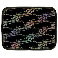 Bird s With Nest   Rainbow And Black Netbook Case (large)