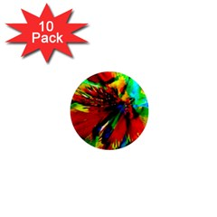 Flowers With Color Kick 1 1  Mini Magnet (10 Pack)