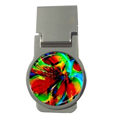 Flowers With Color Kick 1 Money Clips (round)