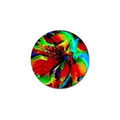 Flowers With Color Kick 1 Golf Ball Marker (10 Pack)