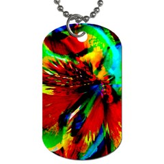 Flowers With Color Kick 1 Dog Tag (two Sides)