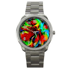 Flowers With Color Kick 1 Sport Metal Watch