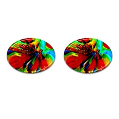 Flowers With Color Kick 1 Cufflinks (oval)