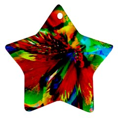 Flowers With Color Kick 1 Star Ornament (two Sides)
