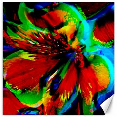 Flowers With Color Kick 1 Canvas 16  X 16