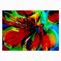 Flowers With Color Kick 1 Large Glasses Cloth