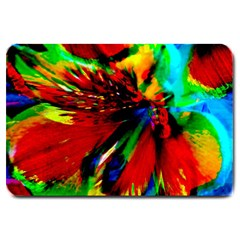 Flowers With Color Kick 1 Large Doormat