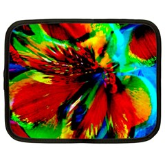 Flowers With Color Kick 1 Netbook Case (large)