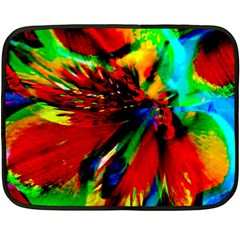 Flowers With Color Kick 1 Double Sided Fleece Blanket (mini)