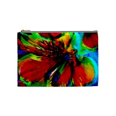 Flowers With Color Kick 1 Cosmetic Bag (medium)